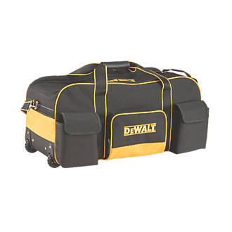 Heavy duty mobile rolling tool duffel bag on wheels with pockets case storage