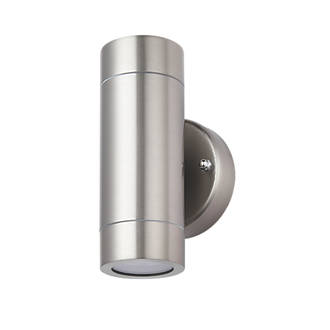 Lap bronx outdoor up down wall light stainless steel outdoor lap bronx outdoor up down wall light stainless steel outdoor wall lights screwfix aloadofball