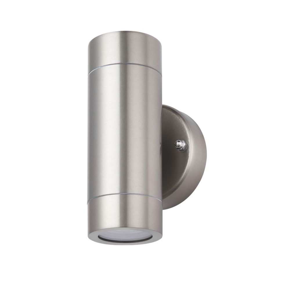 lap bronx outdoor up & down wall light stainless steel   outdoor