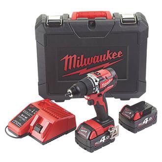 Milwaukee M18CBLPD-402C 18V 4 0Ah Li-Ion RedLithium Brushless Cordless  Combi Drill
