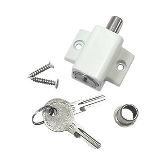 Smith & Locke Patio Door Lock White | Security Accessories ...