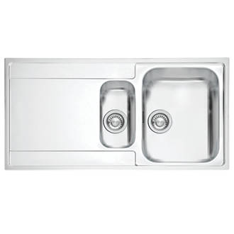 Franke Maris Slim Top Inset Kitchen Sink Stainless Steel 1.5 Bowl ...