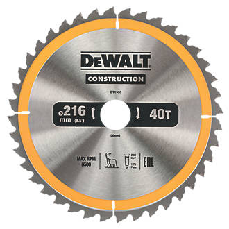 Dewalt general purpose tct circular saw blade 216 x 30mm 40t dewalt general purpose tct circular saw blade 216 x 30mm 40t circular saw blades screwfix keyboard keysfo Images