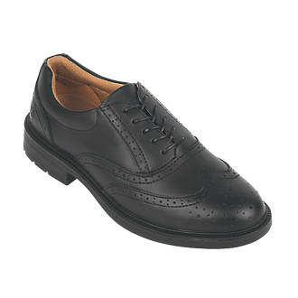 0a67a755e2a City Knights Brogue Safety Shoes Black Size 10