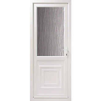 Euramax 2xg double glazed back door translucent glass lh upvc lh euramax 2xg double glazed back door translucent glass lh upvc lh white 840 x 2085mm doors screwfix planetlyrics Images