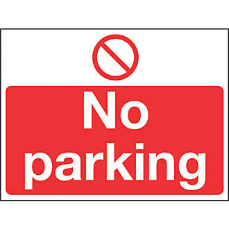 No Parking Sign 300 X 400mm No Parking Signs Screwfixcom