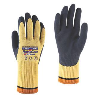 Towa PowerGrab Katana MF Cut-Resistant Gloves Black / Yellow Large