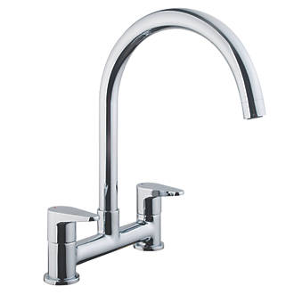 Cooke And Lewis Kitchen Sinks Cooke and lewis 58a deck mounted dual lever bridge mixer kitchen tap cooke and lewis 58a deck mounted dual lever bridge mixer kitchen tap chrome kitchen mixer taps screwfix workwithnaturefo