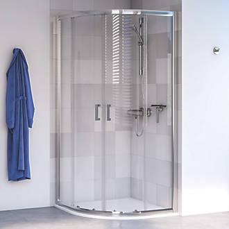 Aqualux Edge 6 Quadrant Shower Enclosure LH RH Polished Silver 900 X 1900mm 7395P