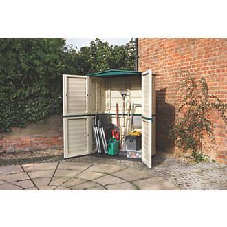 Rowlinson Plastic Tall Store 4 9 X 2 6 X 198m Garden Storage