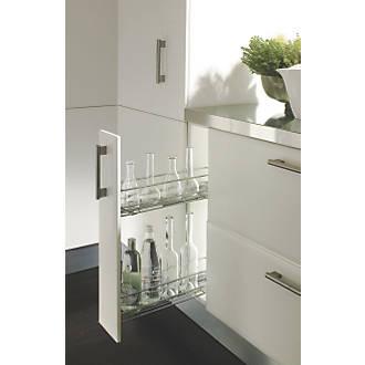 Hafele 2 Shelf Pull Out Unit Chrome 150 X 475 X 460mm Cabinet Storage Screwfix Com
