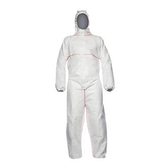 proshield flame retardant disposable coverall white large 42 chest