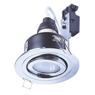 Spa Adjustable Downlight Polished Chrome 220 240v Bathroom Downlights Screwfix Com