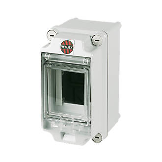 Wylex 3-Module IP65 Insulated Enclosure With Visor