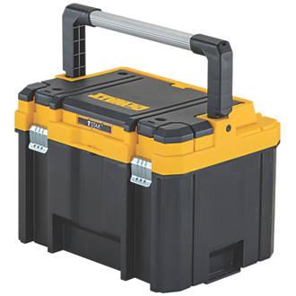 dewalt tstak deep tool box with organiser plastic toolboxes