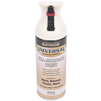 Rust Oleum Universal Spray Paint Gloss White 400ml