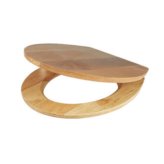 family toilet seat wood. Cooke and Lewis Standard Closing Toilet Seat Solid Oak Natural  Seats Screwfix com