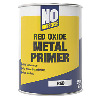 No Nonsense Red Oxide Metal Primer Undercoat 250ml Primer Paints Screwfix Com