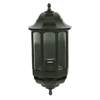 Asd 60w black half lantern wall light outdoor wall lights asd 60w black half lantern wall light outdoor wall lights screwfix aloadofball Image collections