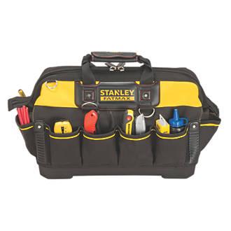 stanley fatmax hard base tool bag tool bags screwfix com