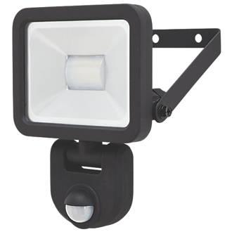 1c4ceb9aa62 LAP LED PIR Floodlight Black 10W Daylight