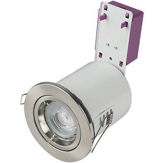 Robus fixed fire rated downlight brushed chrome 220v fire rated robus fixed fire rated downlight brushed chrome 220v fire rated downlights screwfix mozeypictures Choice Image