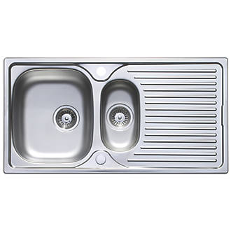 Astracast Horizon Stainless Steel Sink Tap Pack 1 5 Bowl 965 X 500mm Kitchen Packs Fix