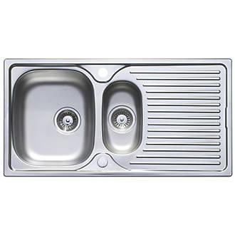 1.5 Bowl Kitchen Sink Astracast horizon stainless steel sink tap pack 15 bowl 965 x astracast horizon stainless steel sink tap pack 15 bowl 965 x 500mm kitchen sink tap packs screwfix workwithnaturefo