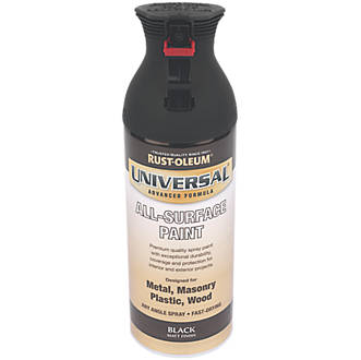 Rust-oleum Universal Spray Paint Matt Black 400ml