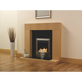 FOCAL POINT LULWORTH STAINLESS STEEL ROTARY CONTROL INSET GAS FULL DEPTH FIRE