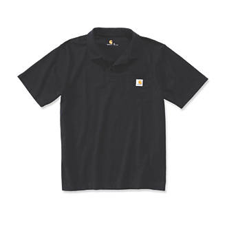 d494bdb3 Carhartt Work Pocket Polo Shirt Black Medium 40