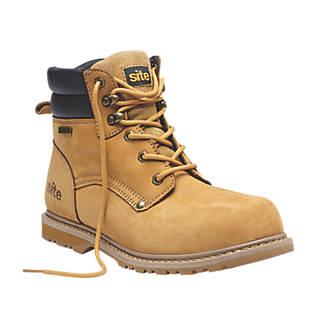 a64100ec578 Site Savannah Safety Boots Tan Size 10