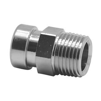 Tectite Sprint Brass Push-Fit Adapting Male Iron Coupler 15mm x ½