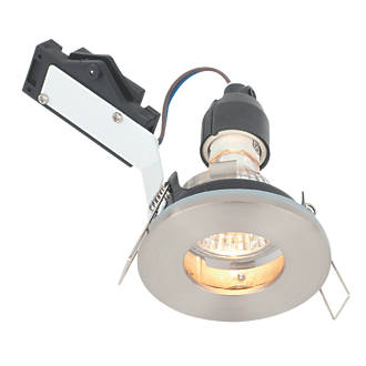 Lap Fixed Downlight Brushed Chrome 240v Non Fire Rated Downlights Screwfix Com