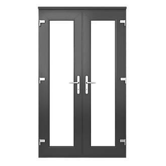 Euramax Deluxe Upvc French Doors Anthracite Grey 1790 X 2090mm Fix