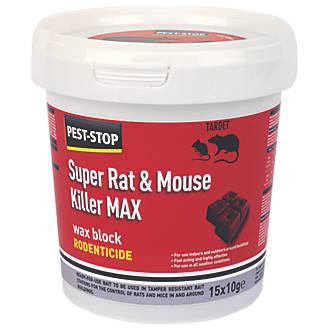 Pest-Stop Rodenticide Wax Blocks