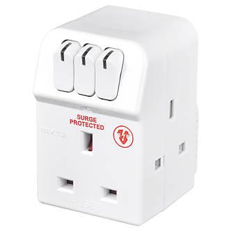 1 Or 2 Way To 4 Way Socket Converter 3 Pin UK Mains Socket Individually Switched