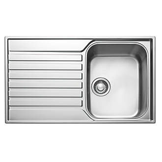 Franke Ascona Inset Sink Stainless Steel 1 Bowl 860 X 510mm Sinks Fix