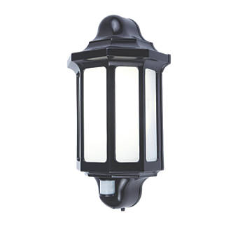 Lap 1818 pir led outdoor half lantern pir black 500lm 15w led lap 1818 pir led outdoor half lantern pir black 500lm 15w led wall lights screwfix aloadofball Gallery