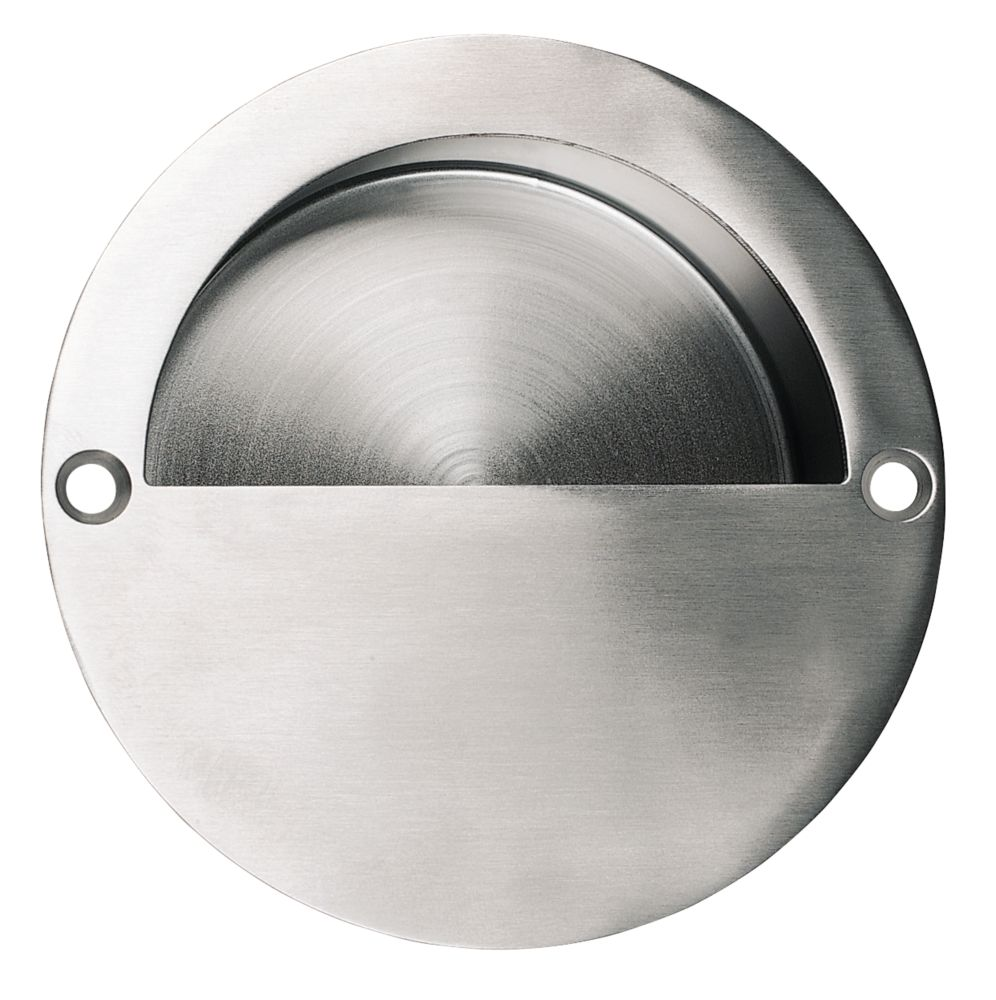 Flush Pulls 90mm Satin Stainless Steel Cup Handles Screwfix Com