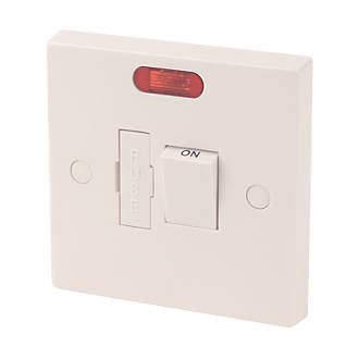 13a Switched Fused Spur With Neon White With Colour Matched Inserts Fused Spurs Screwfix Com