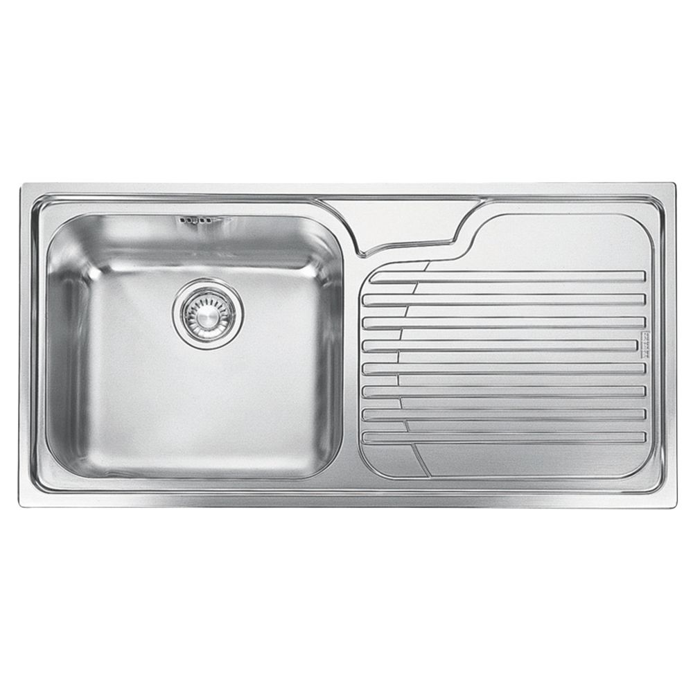 Franke Galassia Inset Kitchen Sink Stainless Steel  X Mm Sinks Screwfix Com