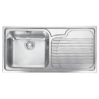 Franke Galia Inset Kitchen Sink Stainless Steel 1 Bowl 1000 X 500mm Sinks Fix