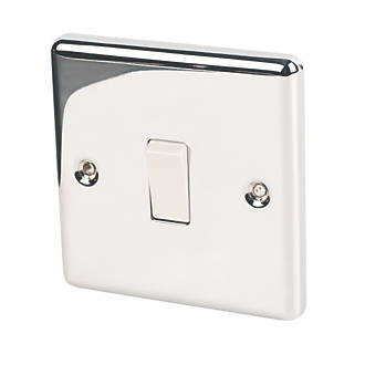 Lap 10ax 1 Gang 2 Way Light Switch Polished Chrome With White Inserts Switches Sockets Screwfix Com