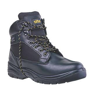 cb1d79d800a Site Tough Rock Safety Boots Black Size 7