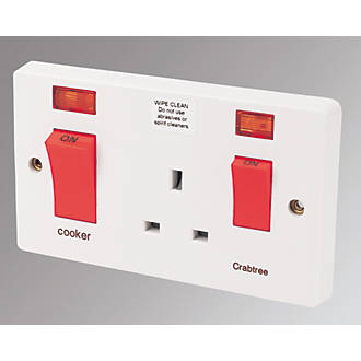 Cooker Switch Socket White