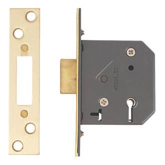 Yale 5 Lever Polished Br 5-Lever Mortice Deadlock 64mm Case ... Yale Wooden Door Locks on