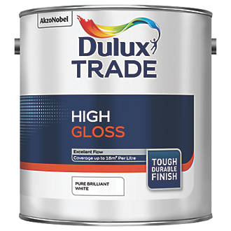 Dulux Trade High Gloss Paint Pure Brilliant White 2 5ltr 83378