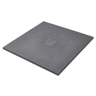 The Shower Tray Company Square Grey Slate Effect 900 X 27mm 8340P