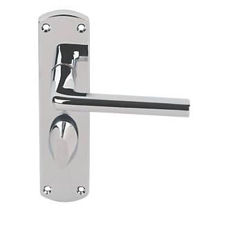 Bathroom Door Handles Pair Polished